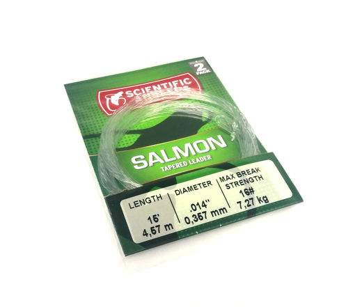 Scientific Anglers Salmon Leader 15ft - 2-pack