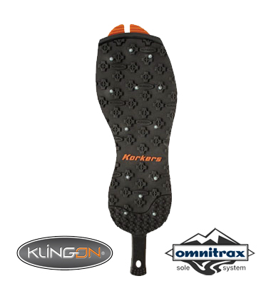 Korkers OmniTrax® Kling-On Studded Rubber Sole