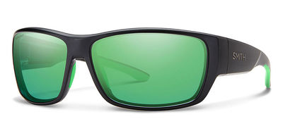 Matte Black Frame - Green Mirror Lens