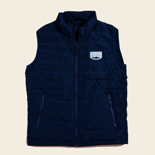 Spey Brothers Down Vest-Navy