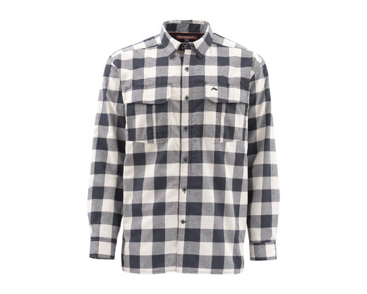 Simms Coldweather Shirt - Sand Buffalo Plaid