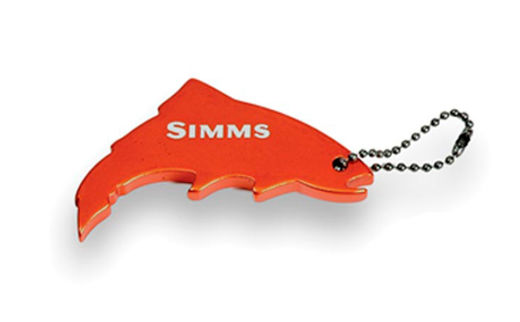 Simms Thirsty Trout Keychain - Simms Orange